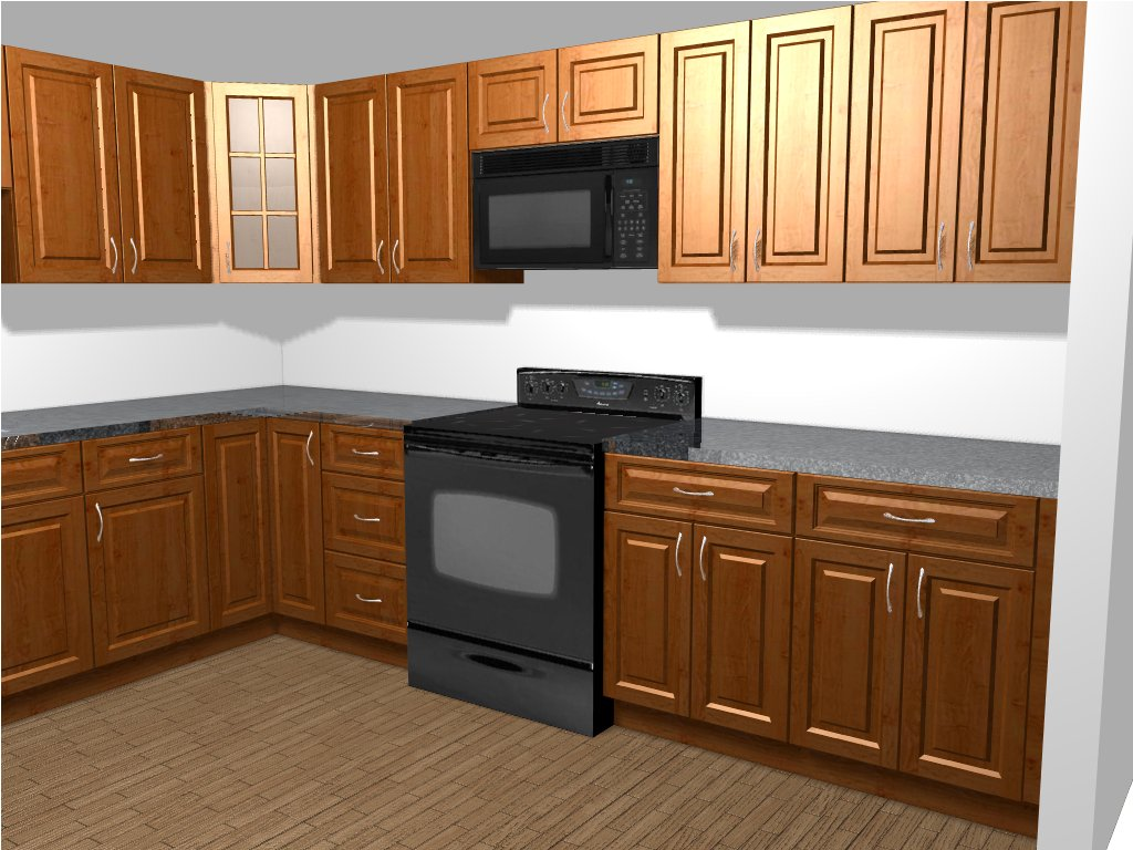 design rendering finished kitchen - Budget Kitchen Ideas